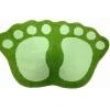 Коврик для ванной SHAHINTEX MICROFIBER ЛАПКИ соединенные 40*60 зеленый 7367