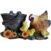 Фигурка Ведерко с курицей и цыплятами Н-16см,L-34cм,D-14см