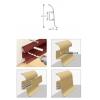 Плинтус с кабель-каналом и мягким краем 55 мм ясень светлый (55х22х2500 мм)