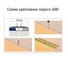 Порог стыкоперекрывающий А80 79х900 мм сосна