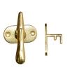 Завертка форточная фигурная (13.04.01) золото