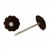 Гвозди с декоративной пластиковой шляпкой 1.4х25 мм темно-коричневые (80 шт) Стройбат
