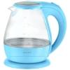 Чайник ENERGY E-266 1,5л, диск, стеклян. корпус, голубой