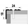 Порог для кромок ступеней Д3 24х18х1800 мм дуб темный