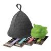 Набор из 6пр Банные штучки-34216 (шапка, мочалка, бальзам, шампунь, гель, мыло) в пакете ПВХ с крюч.