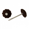 Гвозди с декоративной шляпкой 1.4х25 мм темно-коричневые (50 шт) Стройметиз