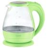 Чайник ENERGY E-266 1,5л, диск, стеклян. корпус, зеленый