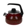 Чайник эмалиров. со свистком IMPERIO вишневый 2 л (4) СТАЛЬЭМАЛЬ  1RA12