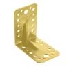 Уголок крепежный 90° усиленный 2х90х105х105 мм (желтый цинк) Крепстандарт