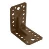 Уголок крепежный 90° усиленный 2х55х70х70 мм (коричневый) Крепстандарт