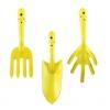 Набор садовый 3 предмета (совок,вилка, рыхлитель) цельнометаллический