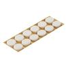 Подкладка (пункт) для мебели фетровая самоклеющаяся d24 мм белая (12 шт) Tech-Krep
