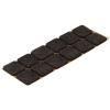 Подкладка (пункт) для мебели фетровая самоклеющаяся 30х25 мм темная (12 шт) Tech-Krep