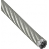 Трос стальной 3/4 мм DIN 3055 (в ПВХ оболочке) цинк Стройбат