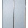 Панель ПВХ 200х3000 мм Софитто штрих серый 2 полосы серебро вогнутая