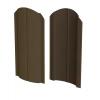 Штакетник R-образный (фигурный) 1800 мм шоколадно-коричневый (RAL 8017)