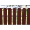 Штакетник М-образный (фигурный) 1800 мм шоколадно-коричневый (RAL 8017)