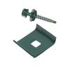 Скоба универсальная d-62х55 мм зеленый мох (RAL 6005) (3 шт)