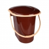 Ведро-туалет 17л коричневый (Альтернатива)