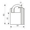 """Замок навесной """"Аллюр"""" ВС2С-601 d-10,5мм полимер чёрный,3 ключа"""