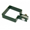 Крепление хомут односторонний Люкс d-50х50 мм зеленый мох (RAL 6005) (3 шт)