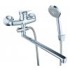 Смеситель для ванной Lucky Tap ЭКО d35, дивертер, L-излив 35см BBO-3024S-35L-31