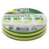 Изолента ПВХ DORI желто-зеленая, 15 мм (10 м)