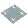 Пластина крепежная оцинкованная 1.2х48х48 мм Крепстандарт