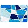 Коврик для ванной, акрил, 50x80см, Витраж, голубой, VETTA Дизайн GC 462-547