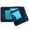 Набор ковриков 2шт для ванной и туалета, акрил, 50x80см + 50x50см, Абстракция синий, 07-030 462-1