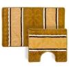 Набор ковриков 2шт для ванной и туалета, (50x80см + 50x40см), полиэстер 380гр,Полосатые,4цв VETTA