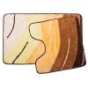 Набор ковриков 2шт для ванной и туалета акрил VETTA, 50x80см + 50x50см, Графика, жёлтый 462-388