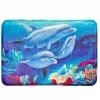 Коврик для ванной флис, принт, ортопедическая пена 1,2см, 40x60см, Дельфины 462-594 VETTA