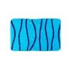 Коврик для ванной, акрил, 50х80см, Волна голубой, Дизайн GC 462-555 VETTA