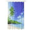 Шторка для ванной, ткань полиэстер с утяжелит, 180x180см, Пальмы, Дизайн GC 461-456