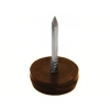 Подпятник для мебели (с гвоздем) d15 мм коричневый (15 шт) Adria