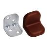 Уголок мебельный 20х20 мм с декор.накладкой (коричневый) (4 шт) Ликчел