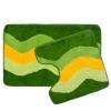 Набор ковриков 2шт для ванной и туалета, акрил, 50x80см + 50x50см, Зелёный полосы 462-465 VETTA