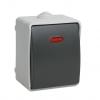 Выключатель 1-кл. ОП серый 10 А, с подсв., IP54 IEK Форс ВС20-1-1-ФСр