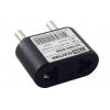 Переходник (адаптер) тип CEE 7/17 - тип А/F 10 А черный TDM ЕLECTRIC