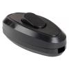 Выключатель кнопочный на шнур 6А черный TDM ЕLECTRIC