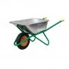 Тачка строительная зеленая 1-колесная усиленная Мастер Алмаз110л, колесо 400 мм