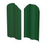 Штакетник М-образный (фигурный) 2200 мм зеленый мох (RAL 6005)