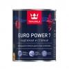 Краска моющаяся интерьерная Tikkurila Euro Power 7 база А белая база А 0.9 л