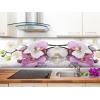 Панель фартук МДФ 600х2440 мм лиловая орхидея