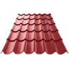 Металлочерепица супер Монтеррей 0.4х1180х2250 мм винно-красная (RAL 3005)