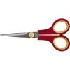 Ножницы бытовые, нержавеющие, прорезиненные ручки, толщина лезвия 1,4 мм, 135 мм