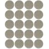Подкладка (пункт) для мебели самоклеющаяся d17 мм серая (20 шт)