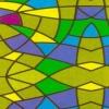 Пленка самоклеющаяся Витраж цветной 45см/8м 9033