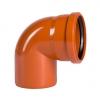 Отвод для наружной канализации 110мм угол 87°